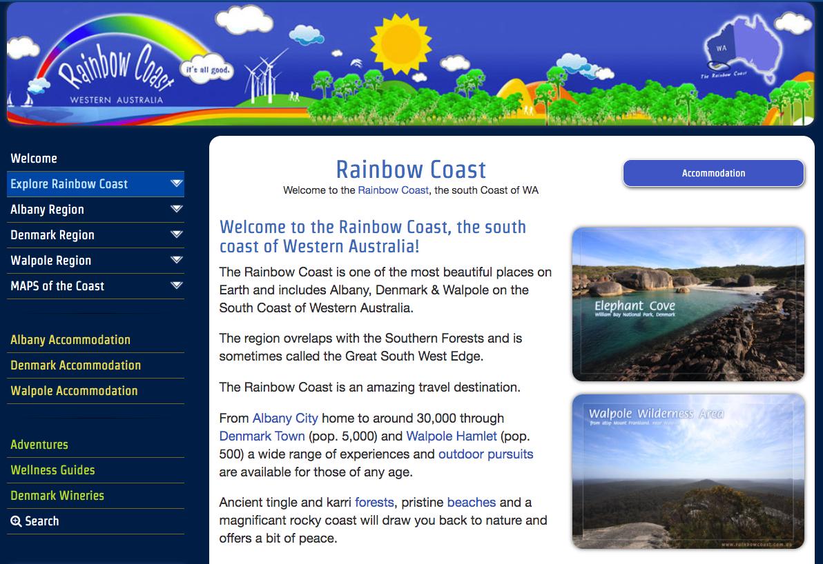 Rainbow Coast Travel Website